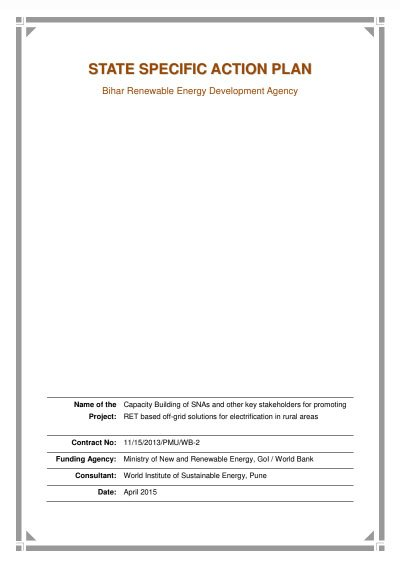 Best Practices Handbook on performance evaluation and O&M for solar PV