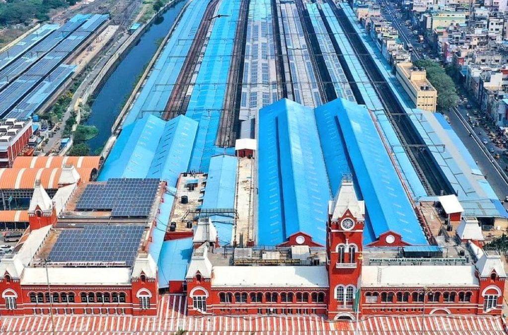Chennai Central Turns Solar Central